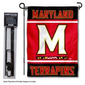 Maryland Terps Garden Flag and Pole Stand Holder