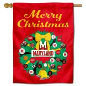 Maryland Terps Happy Holidays Banner Flag
