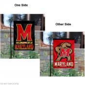 Maryland Terps Two Logo Garden Flag