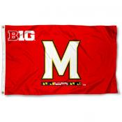 Maryland Terrapins Big Ten Flag