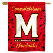 Maryland Terrapins Congratulations Graduate Flag
