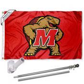 Maryland Terrapins Flag Pole and Bracket Kit