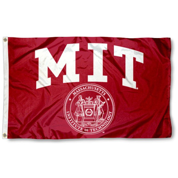 This Massachusetts Institute of Technology Flag measures 3'x5', is made of 100% nylon, has quad-stitched sewn flyends, and has two-sided Massachusetts Institute of Technology printed logos. Our Massachusetts Institute of Technology Flag is officially licensed and all flags for Massachusetts Institute of Technology are approved by the NCAA and Same Day UPS Express Shipping is available.