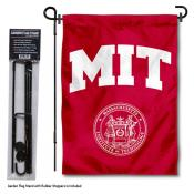 Massachusetts Institute of Technology Garden Flag and Stand
