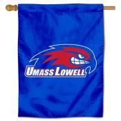 Massachusetts Lowell River Hawks Double Sided House Flag