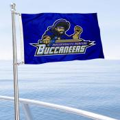 Massachusetts Maritime Buccaneers Boat and Mini Flag