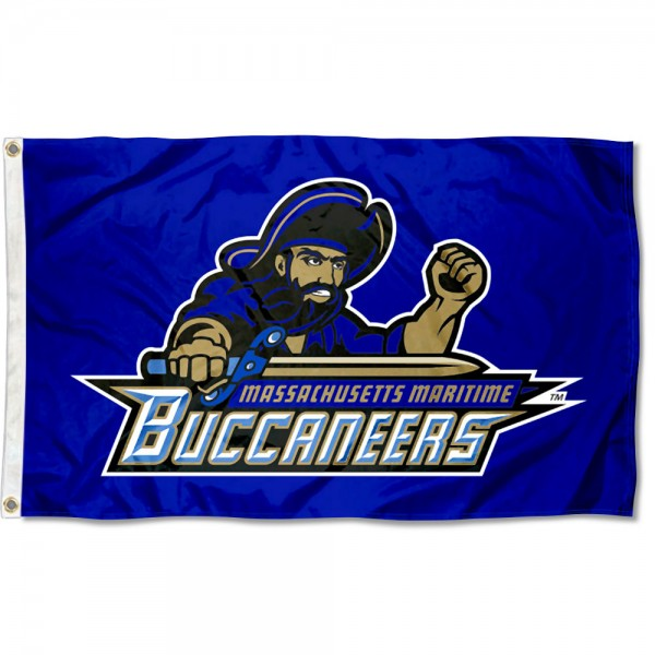 Massachusetts Maritime Buccaneers Flag measures 3x5 feet, is made of 100% polyester, offers quadruple stitched flyends, has two metal grommets, and offers screen printed NCAA team logos and insignias. Our Massachusetts Maritime Buccaneers Flag is officially licensed by the selected university and NCAA.
