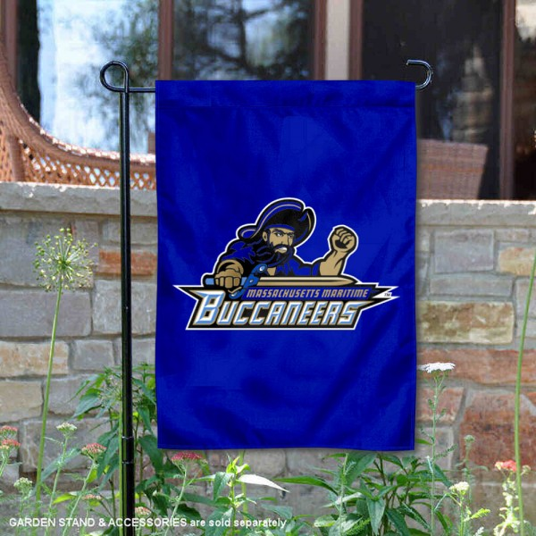 Massachusetts Maritime Buccaneers Garden Flag is 13x18 inches in size, is made of 2-layer polyester, screen printed university athletic logos and lettering, and is readable and viewable correctly on both sides. Available same day shipping, our Massachusetts Maritime Buccaneers Garden Flag is officially licensed and approved by the university and the NCAA.