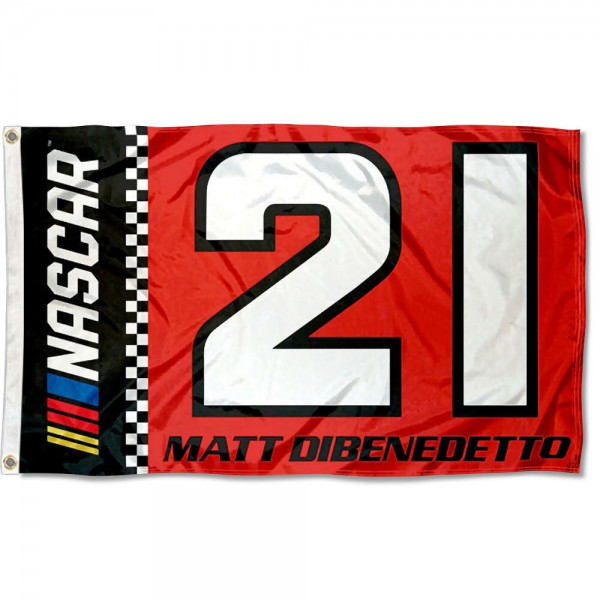 Matt Dibenedetto 3x5 Large Banner Flag is screen printed, made of one-ply polyester, quad stitched flyends, and measures 3x5 feet. Our Matt Dibenedetto 3x5 Large Banner Flag is approved by NASCAR.