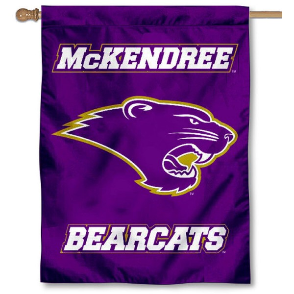 MCK Bearcats Banner Flag is a vertical house flag which measures 30x40 inches, is made of 2 ply 100% polyester, offers screen printed NCAA team insignias, and has a top pole sleeve to hang vertically. Our MCK Bearcats Banner Flag is officially licensed by the selected university and the NCAA.