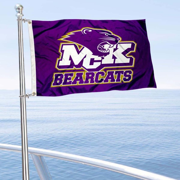 McKendree Bearcats Boat and Mini Flag is 12x18 inches, polyester, offers quadruple stitched flyends for durability, has two metal grommets, and is double sided. Our mini flags for McKendree University are licensed by the university and NCAA and can be used as a boat flag, motorcycle flag, golf cart flag, or ATV flag.