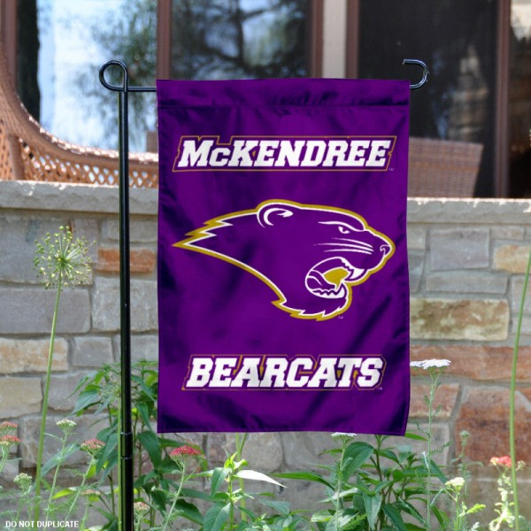 McKendree Bearcats Logo Garden Flag is 13x18 inches in size, is made of 2-layer polyester with liner, screen printed athletic logos and lettering. Available with Same Day Overnight Express Shipping, Our McKendree Bearcats Logo Garden Flag is officially licensed and approved by the university, college and the NCAA.
