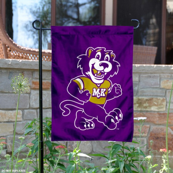 McKendree University Mascot Garden Flag is 13x18 inches in size, is made of 2-layer polyester with liner, screen printed athletic logos and lettering. Available with Same Day Overnight Express Shipping, Our McKendree University Mascot Garden Flag is officially licensed and approved by the university, college and the NCAA.