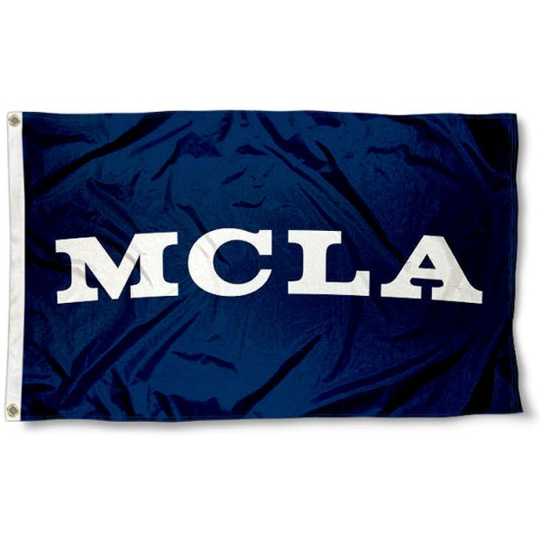 MCLA Trailblazers Wordmark Flag measures 3x5 feet, is made of 100% polyester, offers quadruple stitched flyends, has two metal grommets, and offers screen printed NCAA team logos and insignias. Our MCLA Trailblazers Wordmark Flag is officially licensed by the selected university and NCAA.