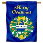 McNeese State Cowboys Happy Holidays Banner Flag