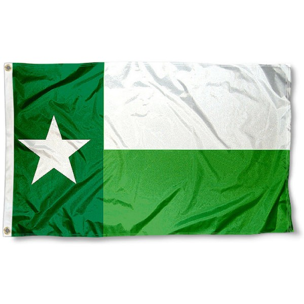 Mean Green TX State Flag measures 3x5 feet, is made of 100% polyester, offers quadruple stitched flyends, has two metal grommets, and offers screen printed NCAA team logos and insignias. Our Mean Green TX State Flag is officially licensed by the selected university and NCAA.