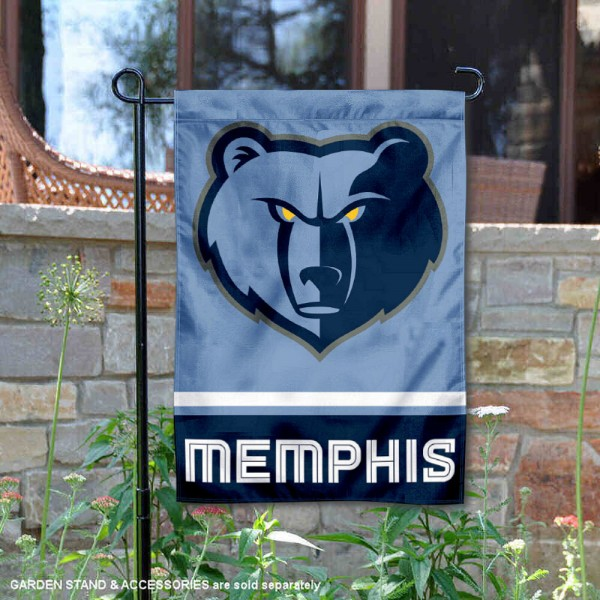 Memphis Grizzlies Double Sided Garden Flag is 12.5x18 inches in size, is made of 2-ply polyester, and has two sided screen printed logos and lettering. Available with Express Next Day Shipping, our Memphis Grizzlies Double Sided Garden Flag is NBA Genuine Merchandise and is double sided.