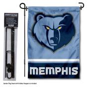 Memphis Grizzlies Garden Flag and Flag Pole Stand