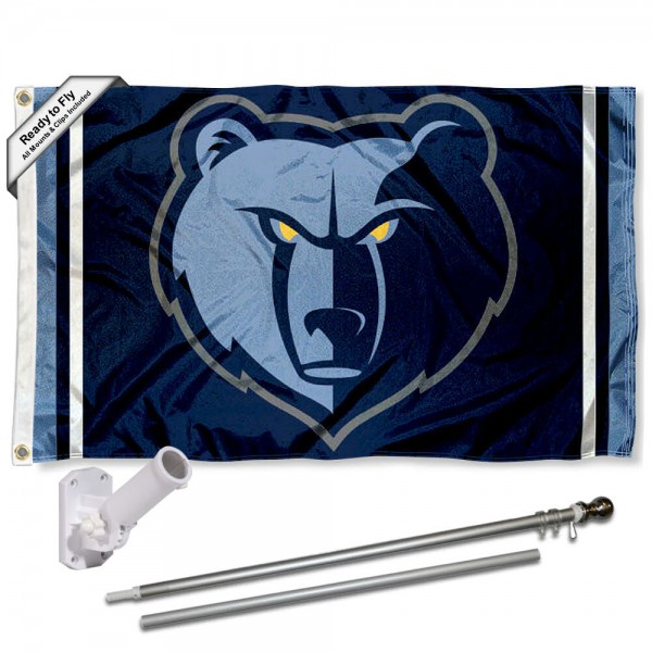 Memphis Grizzlies Grizzly Flag Pole and Bracket Kit