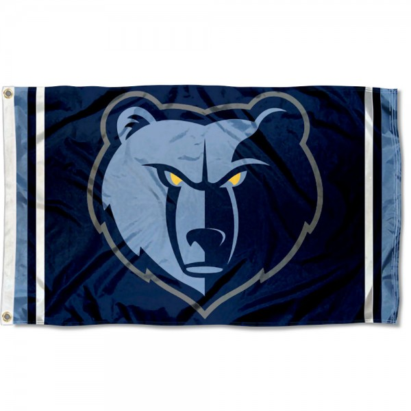 The Memphis Grizzlies Grizzly Head Flag is four-stitched bordered, double sided, made of poly, 3'x5', and has two grommets. These Memphis Grizzlies Grizzly Head Flags are NBA Genuine Merchandise.