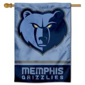 Memphis Grizzlies Logo Double Sided House Flag