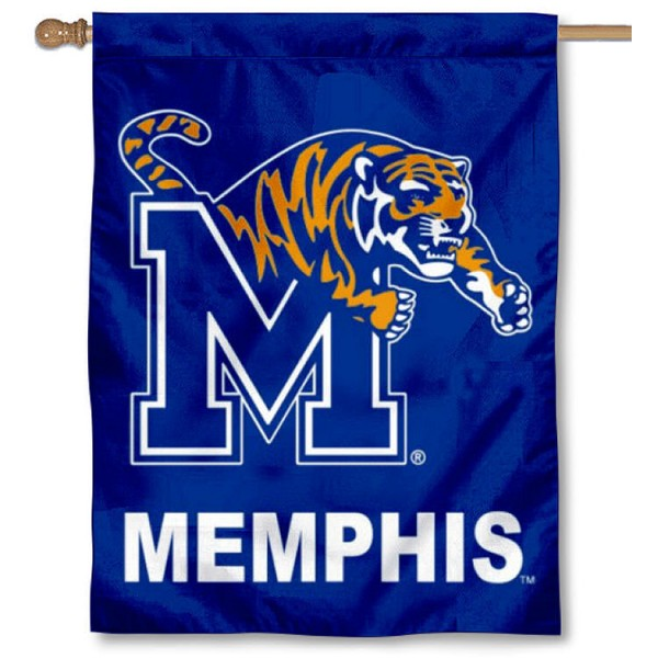 Memphis Tigers Double Sided House Flag is a vertical house flag which measures 30x40 inches, is made of 2 ply 100% polyester, offers screen printed NCAA team insignias, and has a top pole sleeve to hang vertically. Our Memphis Tigers Double Sided House Flag is officially licensed by the selected university and the NCAA.