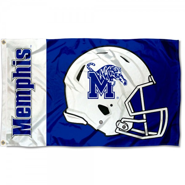 Memphis Tigers Football Helmet Flag measures 3x5 feet, is made of 100% polyester, offers quadruple stitched flyends, has two metal grommets, and offers screen printed NCAA team logos and insignias. Our Memphis Tigers Football Helmet Flag is officially licensed by the selected university and NCAA.