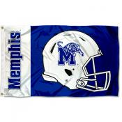 Memphis Tigers Football Helmet Flag