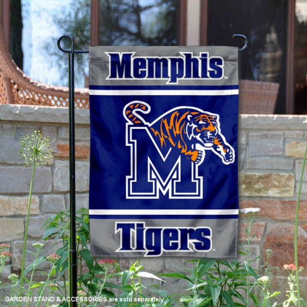 Memphis Tigers Garden Flag is 13x18 inches in size, is made of 2-layer polyester, screen printed logos and lettering. Available with Same Day Express Shipping, Our Memphis Tigers Garden Flag is officially licensed and approved by the NCAA.
