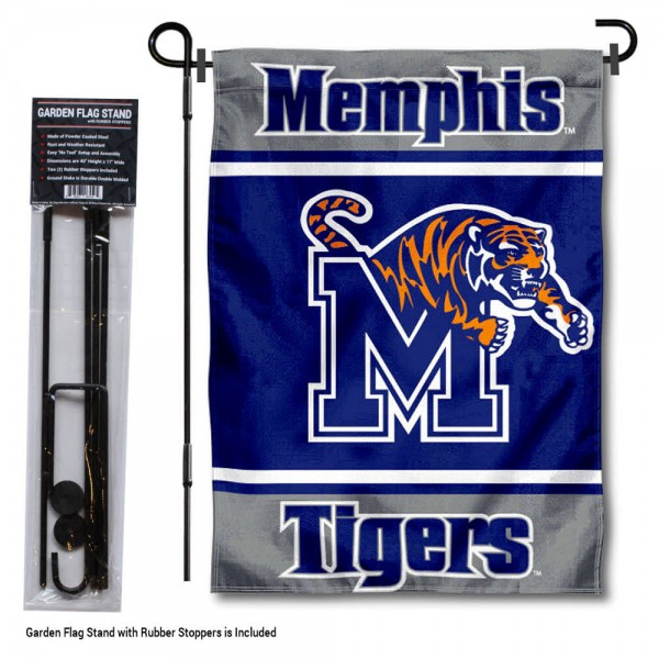 Memphis Tigers Garden Flag and Pole Stand Holder