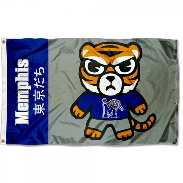 Memphis Tigers Kawaii Tokyo Dachi Yuru Kyara Flag measures 3x5 feet, is made of 100% polyester, offers quadruple stitched flyends, has two metal grommets, and offers screen printed NCAA team logos and insignias. Our Memphis Tigers Kawaii Tokyo Dachi Yuru Kyara Flag is officially licensed by the selected university and NCAA.