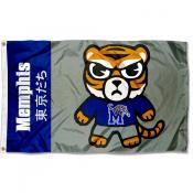 Memphis Tigers Kawaii Tokyodachi Yuru Kyara Flag
