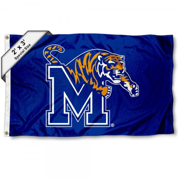 Memphis Tigers Small 2'x3' Flag measures 2x3 feet, is made of 100% polyester, offers quadruple stitched flyends, has two brass grommets, and offers printed Memphis Tigers logos, letters, and insignias. Our 2x3 foot flag is Officially Licensed by the selected university.