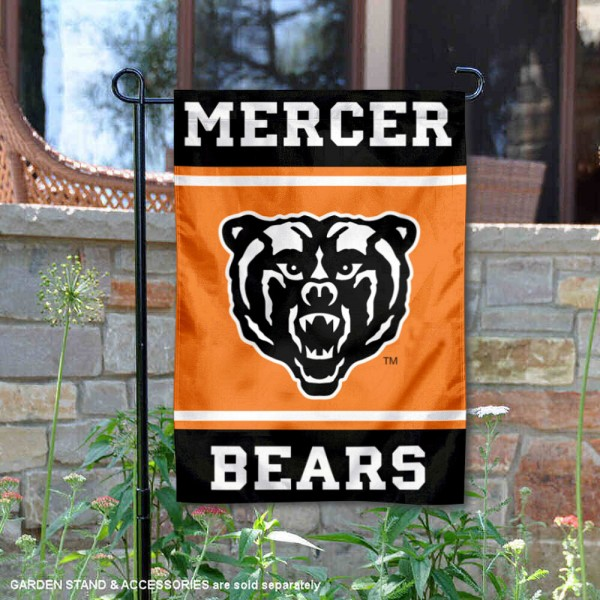 Mercer Bears Garden Flag is 13x18 inches in size, is made of 2-layer polyester, screen printed logos and lettering. Available with Same Day Express Shipping, Our Mercer Bears Garden Flag is officially licensed and approved by the NCAA.