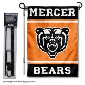 Mercer Bears Garden Flag and Pole Stand Holder