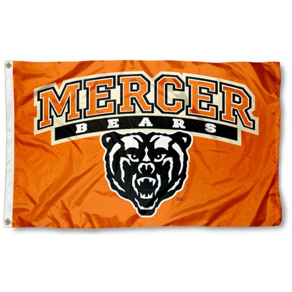 Mercer University Bears 3x5 Flag is made of 100% nylon, offers quad stitched flyends, measures 3x5 feet, has two metal grommets, and is viewable from both side with the opposite side being a reverse image. Our Mercer University Bears 3x5 Flag is officially licensed by the selected college and NCAA.
