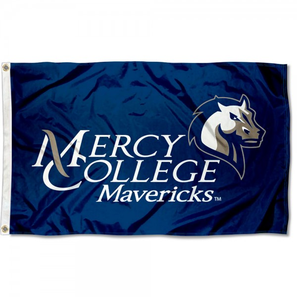 Mercy College Mavericks Flag measures 3x5 feet, is made of 100% polyester, offers quadruple stitched flyends, has two metal grommets, and offers screen printed NCAA team logos and insignias. Our Mercy College Mavericks Flag is officially licensed by the selected university and NCAA.