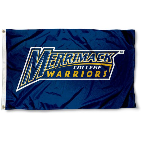Merrimack College Flag measures 3x5 feet, is made of 100% polyester, offers quadruple stitched flyends, has two metal grommets, and offers screen printed NCAA team logos and insignias. Our Merrimack College Flag is officially licensed by the selected university and NCAA.