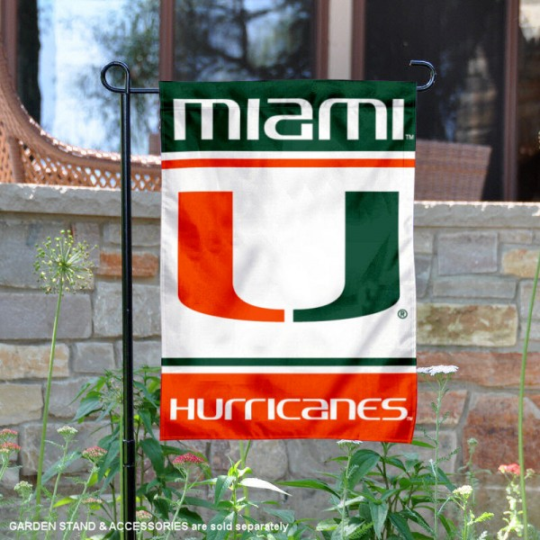 Miami Canes Garden Flag is 13x18 inches in size, is made of 2-layer polyester, screen printed logos and lettering. Available with Same Day Express Shipping, Our Miami Canes Garden Flag is officially licensed and approved by the NCAA.