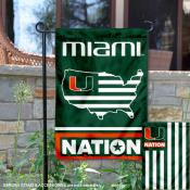 Miami Canes Garden Flag with USA Country Stars and Stripes