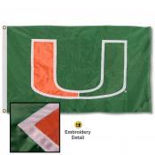 Miami Canes Nylon Embroidered Flag