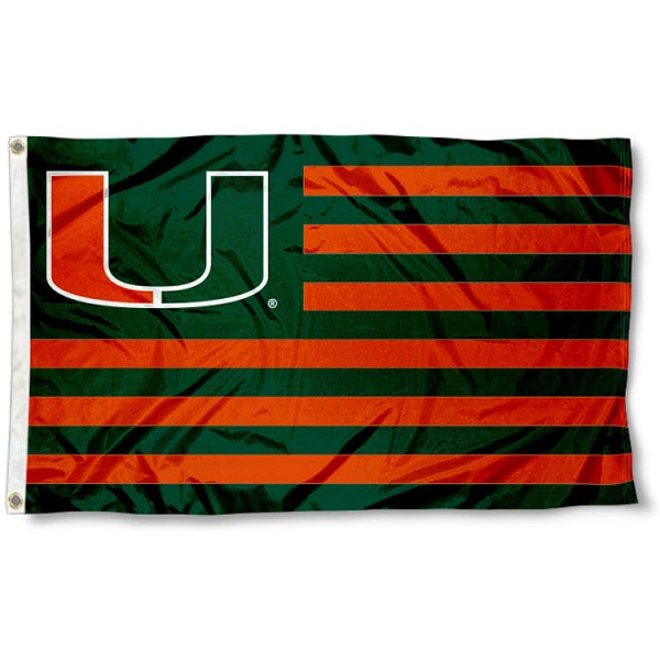 Miami Canes Striped Flag