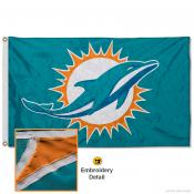Miami Dolphins Embroidered Nylon Flag