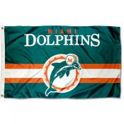 Miami Dolphins Throwback Retro Vintage Logo Flag