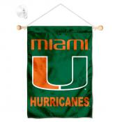 Miami Hurricanes Banner with Suction Cup