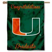 Miami Hurricanes Congratulations Graduate Flag