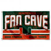 Miami Hurricanes Fan Man Cave Game Room Banner Flag