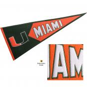 Miami Hurricanes Genuine Wool Pennant