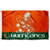 Miami Hurricanes Ibis Mascot Flag
