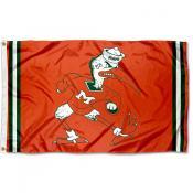 Miami Hurricanes Throwback Vault Logo Flag